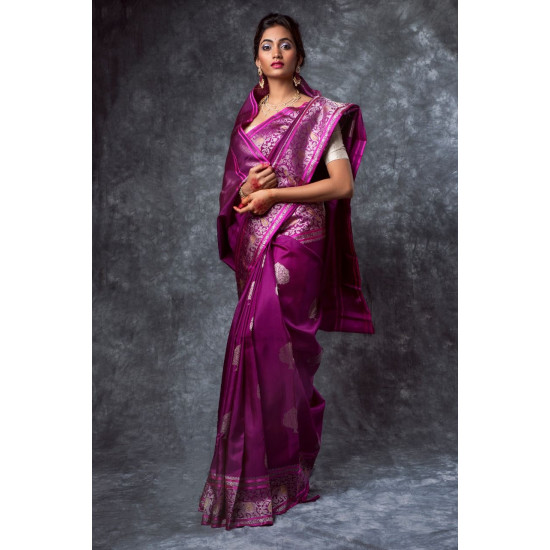 Unique Purple Color Designer Silk Saree DL9030