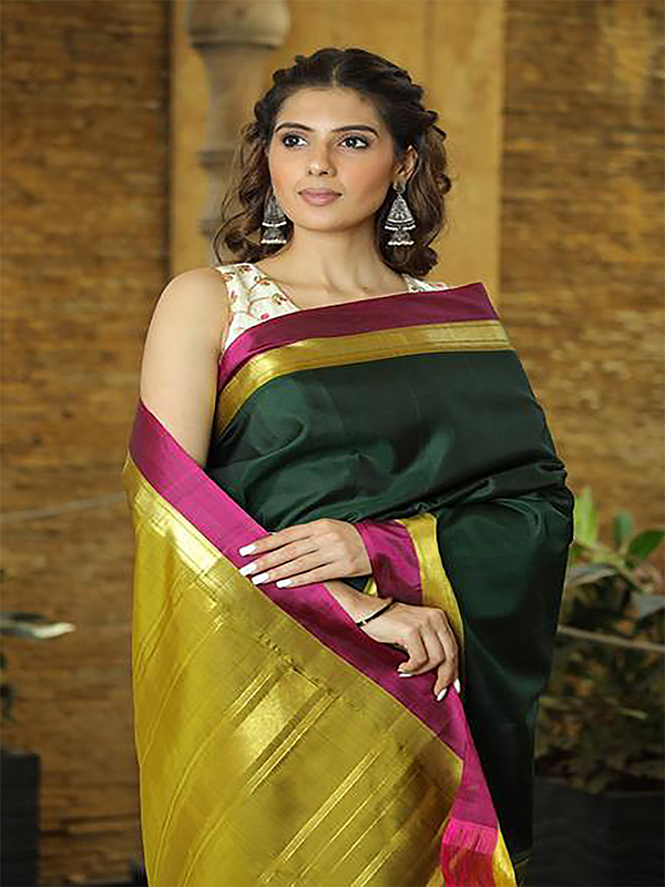 Gorgeous Green And Color Designer Silk Saree DSY-5001