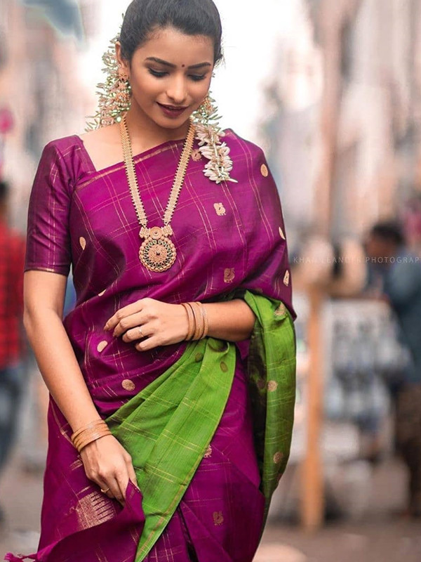 Fanciful Pink And Green Color Designer Silk Saree DSY-5081