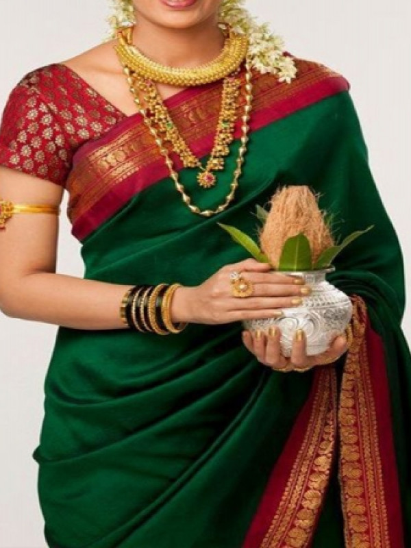 Amazing Green Color Soft Silk Designer Saree VMRFN120