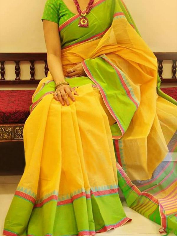 Fantastic Yellow And Green Color Soft Silk Saree SC-1260