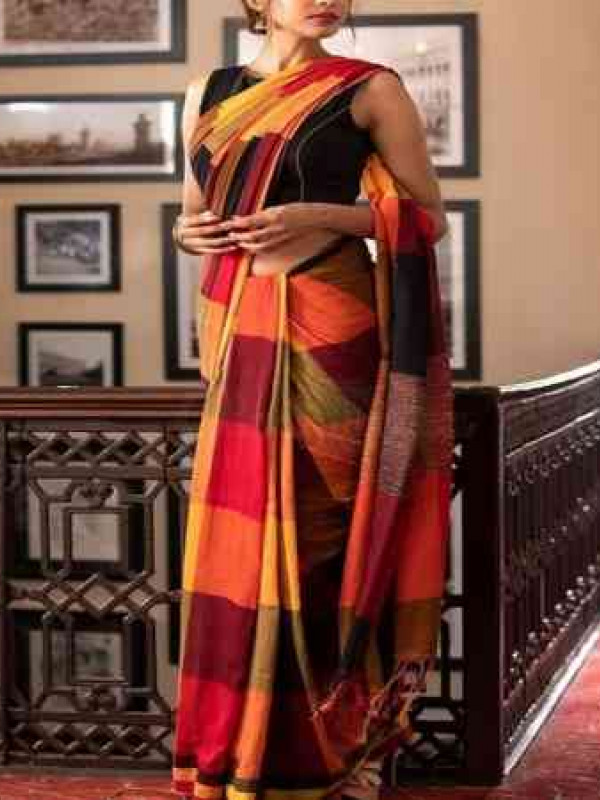 Glitzy Multi Color Soft Silk Saree VMRSC-3040