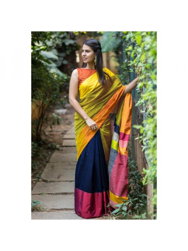 Mind Blowing Multi Color Soft Silk Saree SC-3089