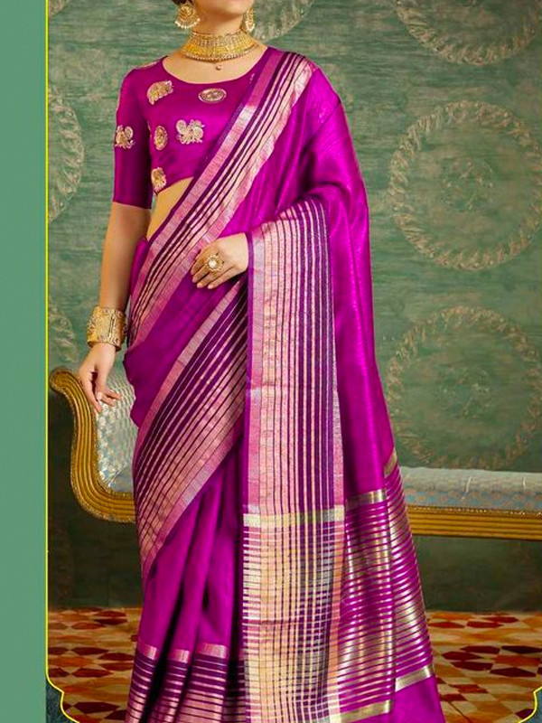 Epitome Purple Color Soft Silk Saree SC3001