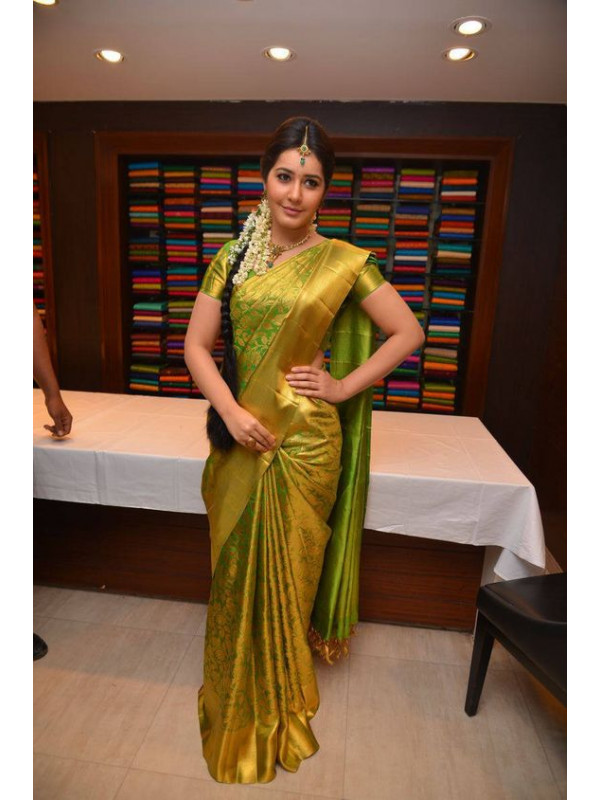 Traditional Green Color Designer Soft Silk Saree SC4028