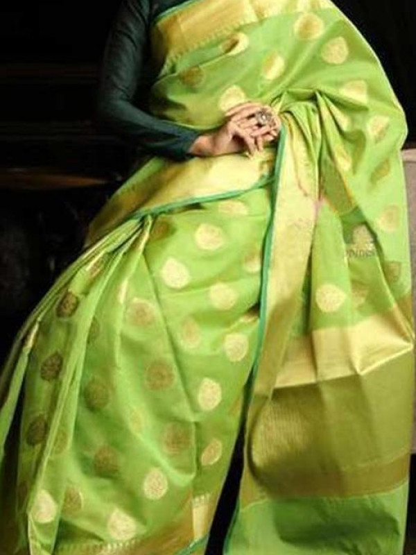 Blooming Green Color Soft Silk Saree VMRSC-7046