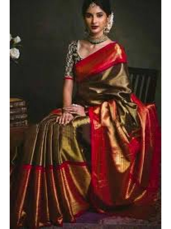 Lovely Red And Copper Color Soft Silk Saree VMRKKBN7284