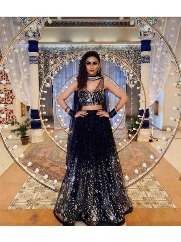 Definitive Black Color Embroidered Designer Lehenga Choli