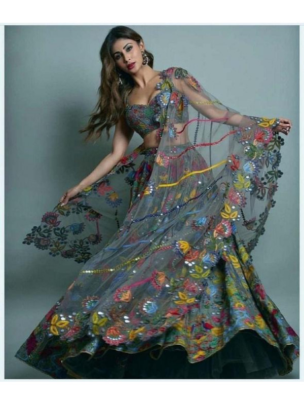 Eventual Grey Color Designer Bridal Lehenga Choli