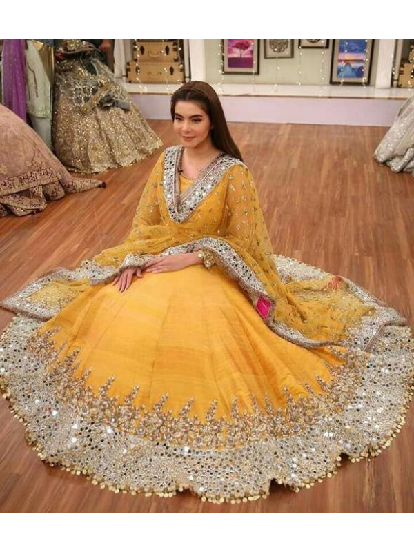 Sensational Yellow Color Designer Party Wear Lehenga Choli
