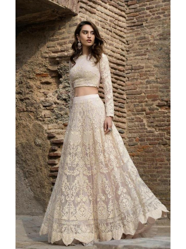 Amazing Beige Color Heavy Tafeta Silk Lehenga Choli